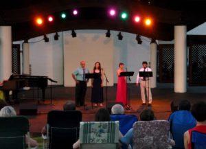 Rigoletto quartet at Rose Tree Park
